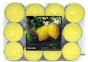 25 Citronella -Outdoor- Duftlichter Zitrone Teelichter Outdoor Brenndauer Ca. 4h Anti Mücken Kerzen